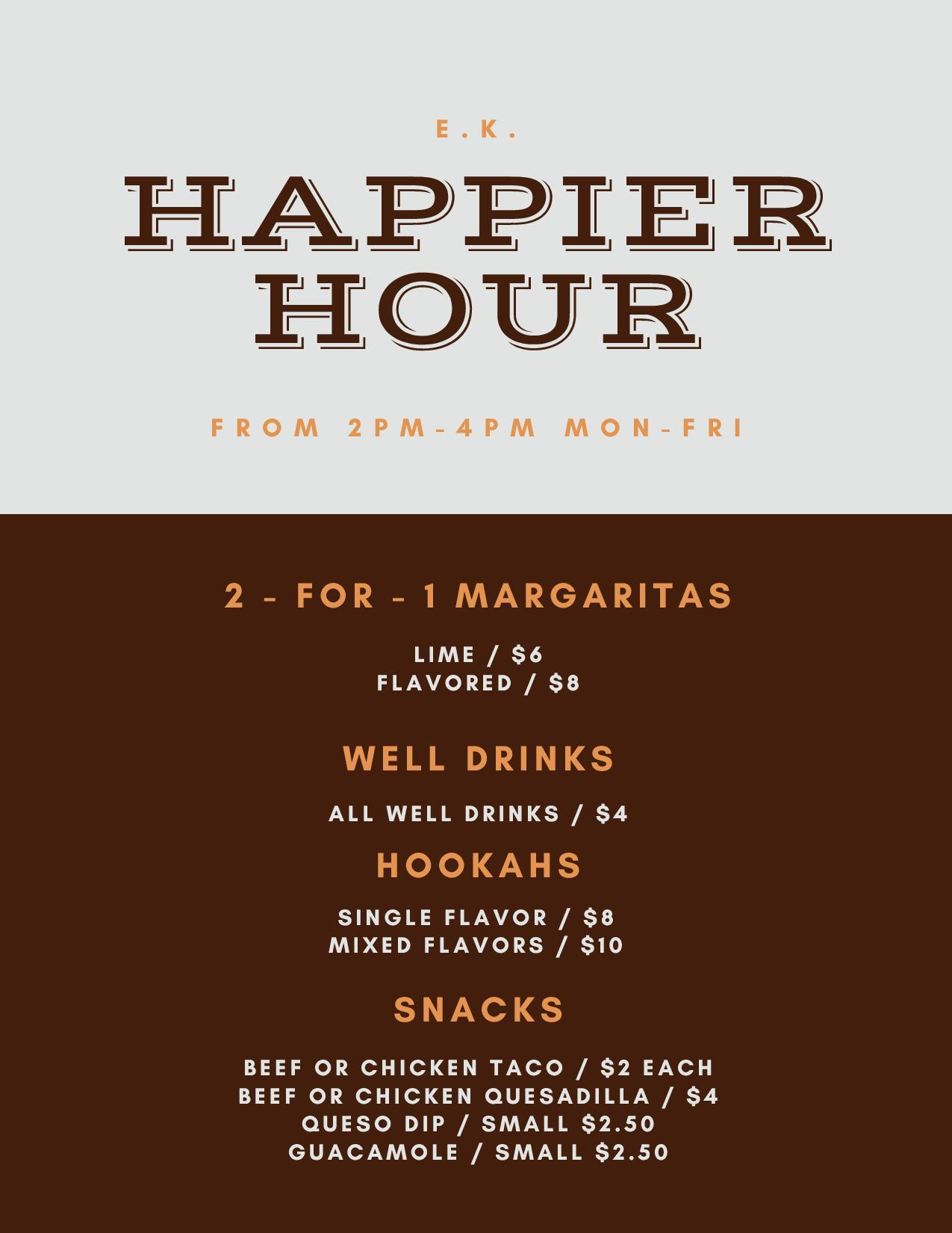 happier hour menu