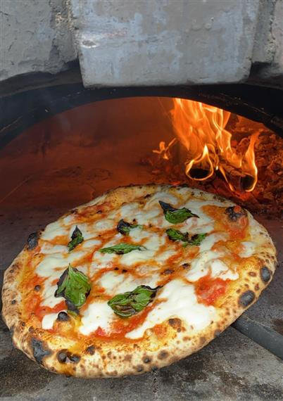 Wood Fired Margherita Pizza