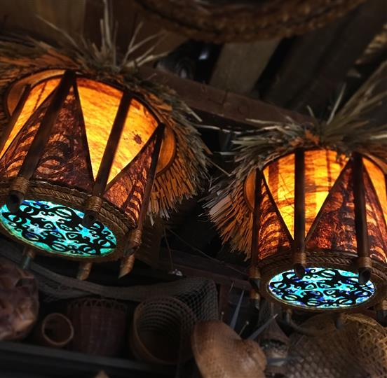 patios tiki bar light fixtures
