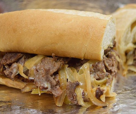 philly cheese steak with onions