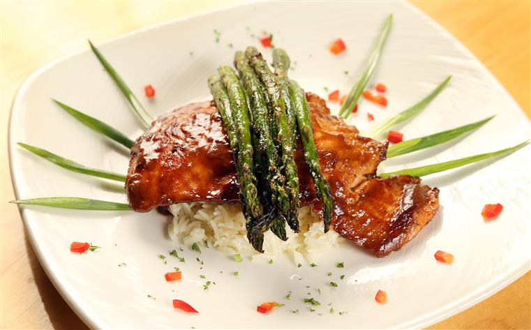 Chicken, Rice , Asparagus