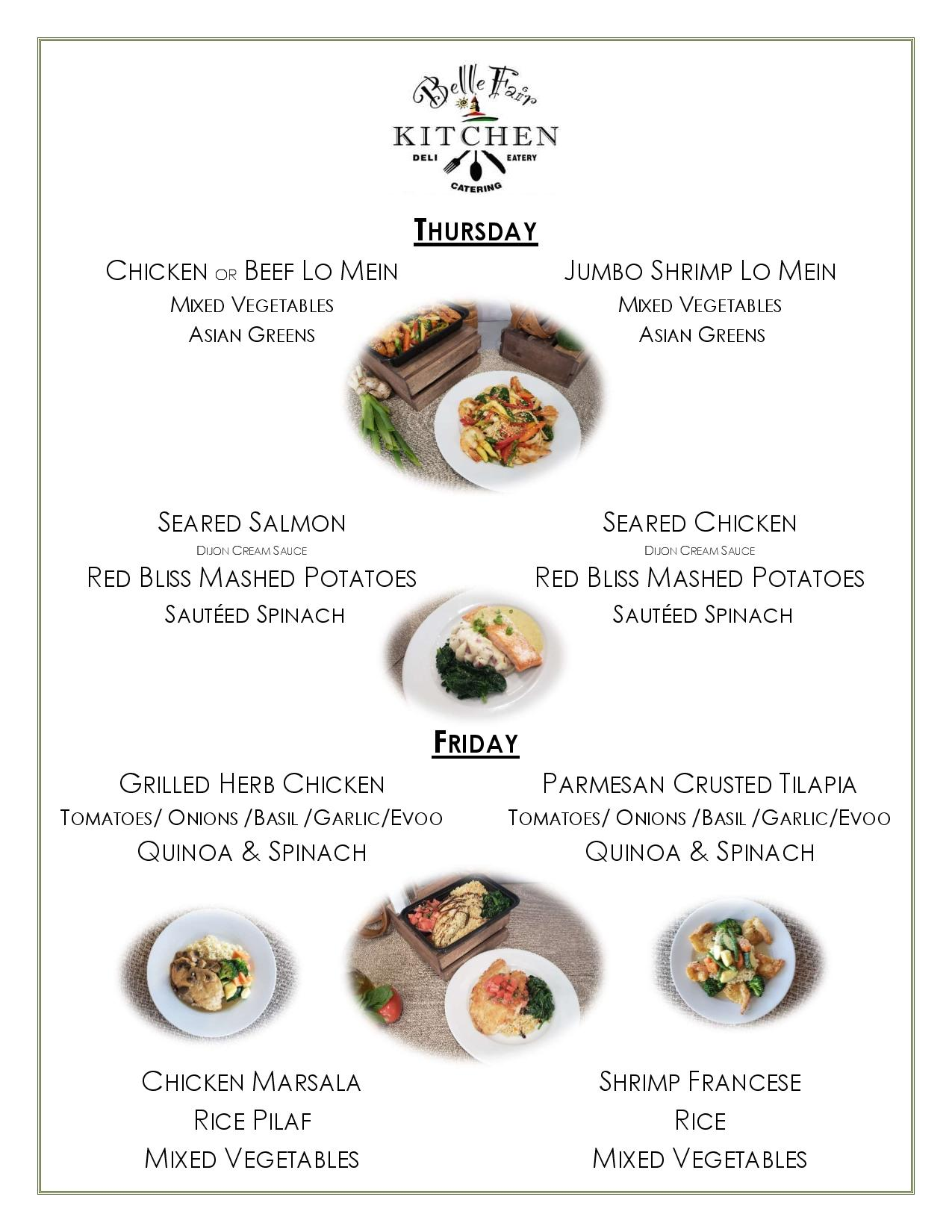 dinner to go menu page 2