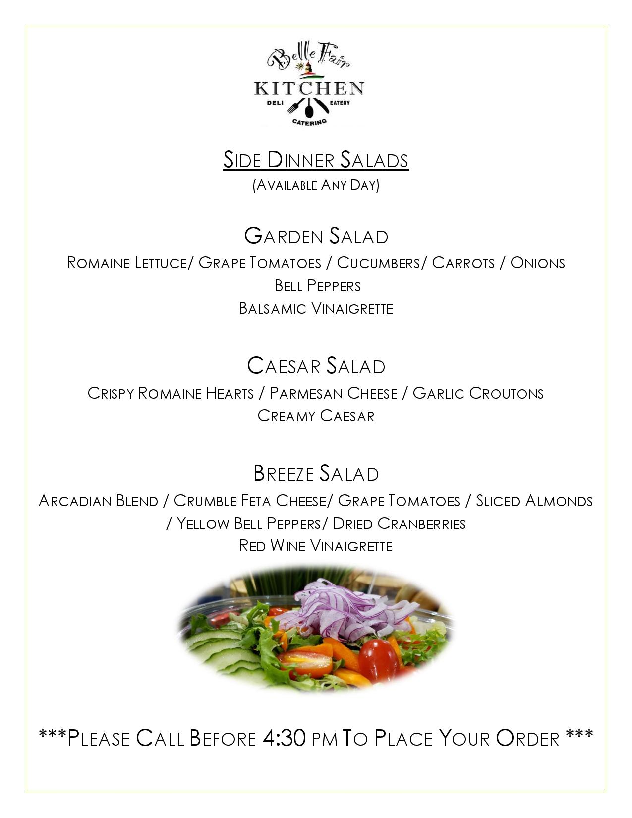 dinner to go menu page 3