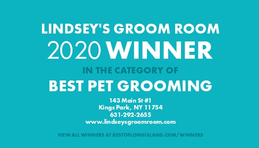 Lindsey's Groom Room 2020 Winner in the category of best pet grooming