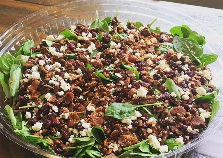 Megan's Mama Spinach Salad