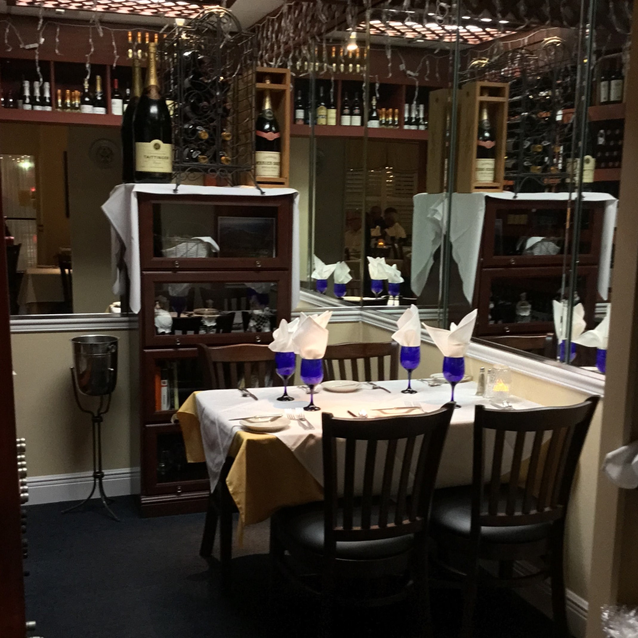 Interior of wine room