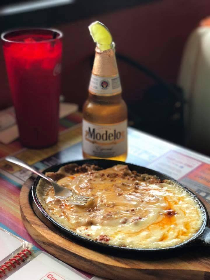 Enchillada entree with Modelo