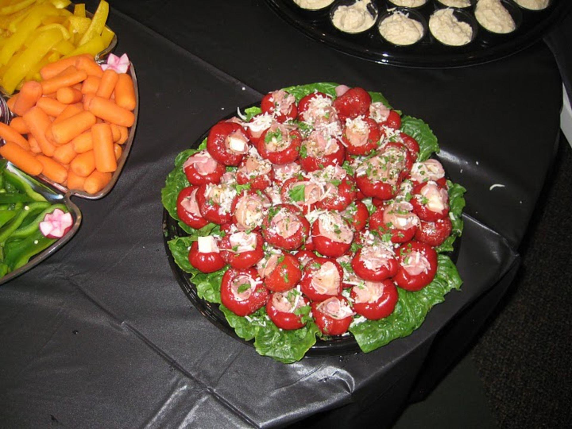 Mini stuffed tomato appetizers