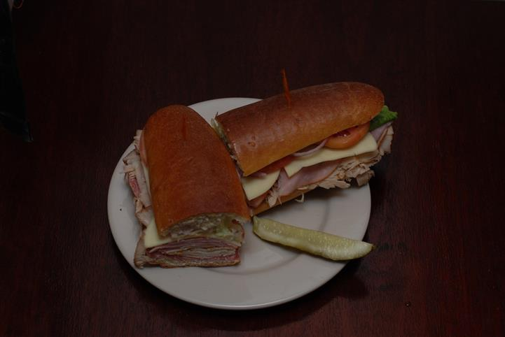Cold cut club sandwich on hero