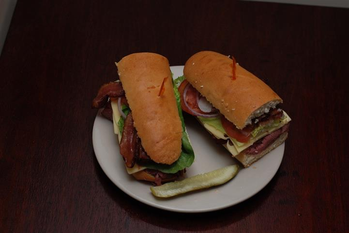 Cold cut sandwich on hero