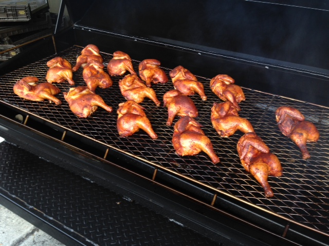 Chicken Wings on Grill, Covered in Sauce