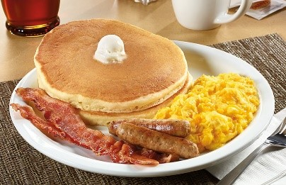 Pancakes with Eggs and Sausage