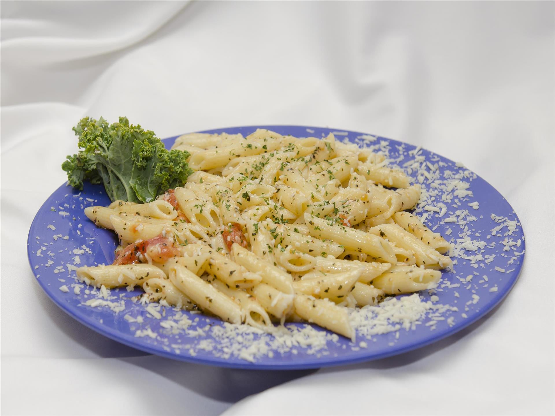 Penne Pasta with Parmesan Cheese