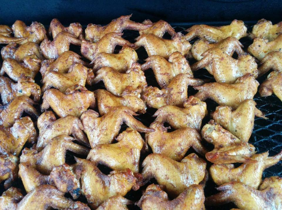 many chicken wings