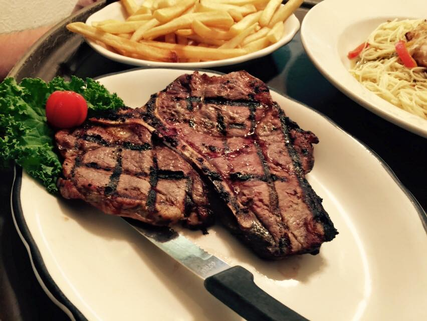 steak with a side of fries