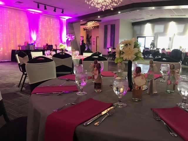tables set up for an event
