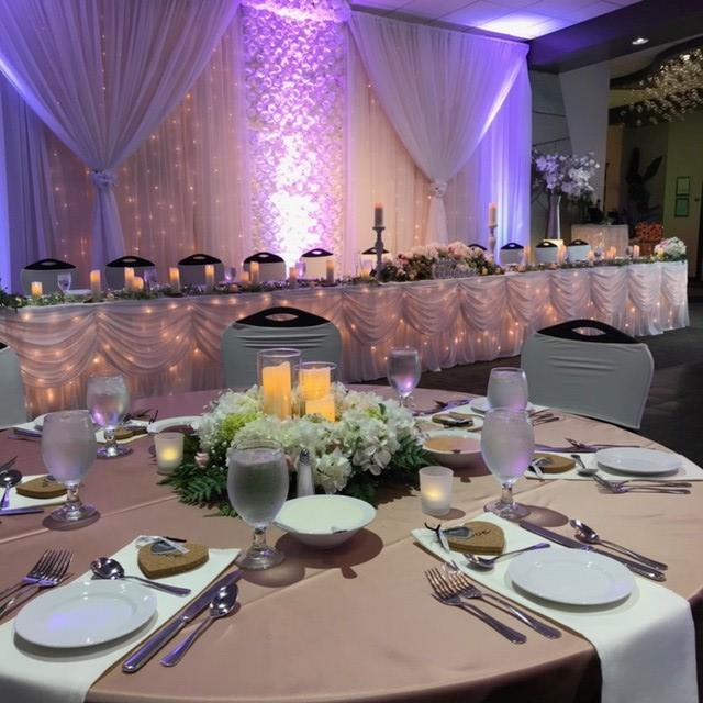 table set up for a wedding