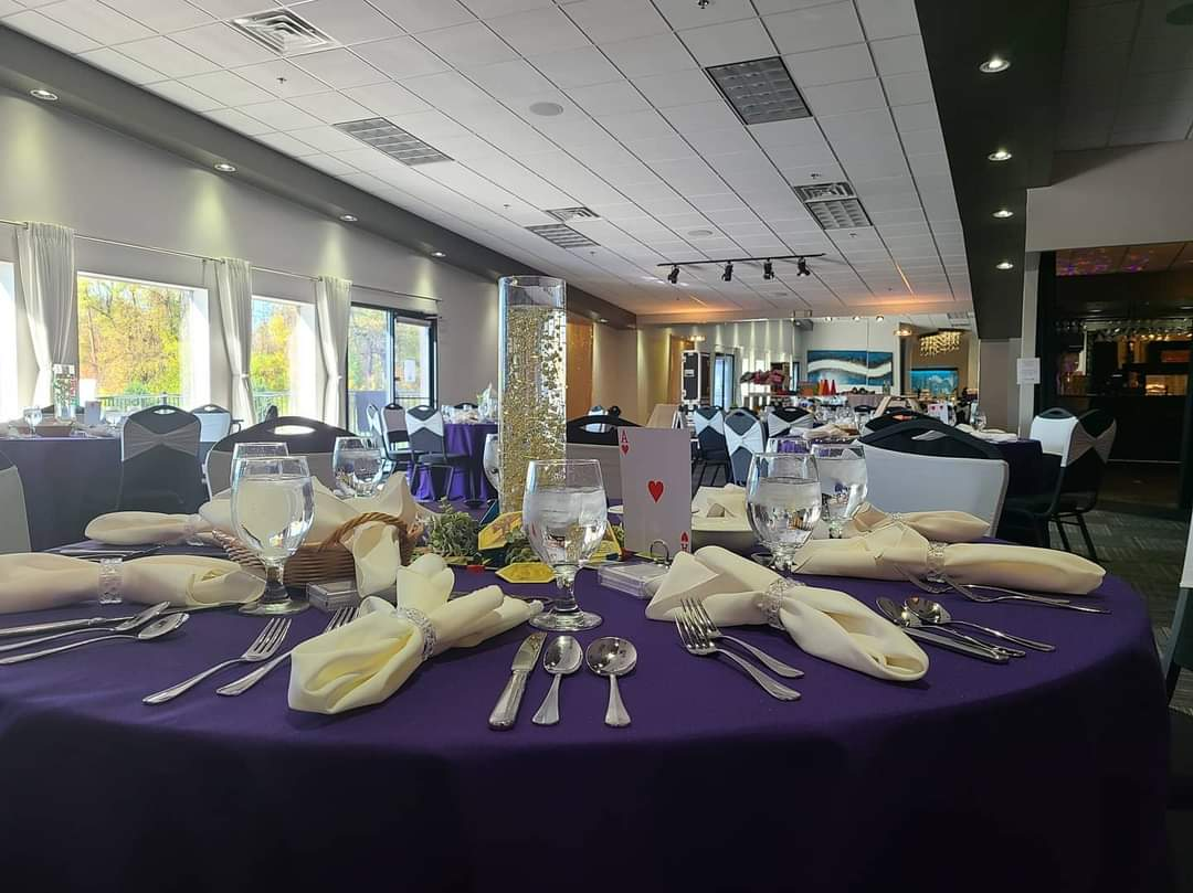 Table set up in Sunset Room
