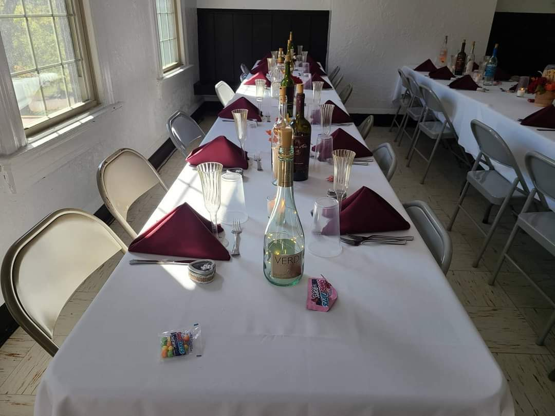 Table set for 12 at event