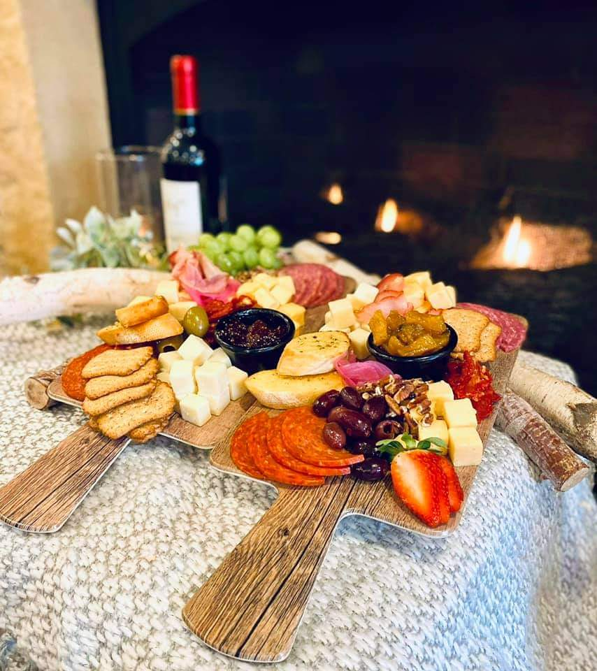 Appetizer Plate Served on wooden tray