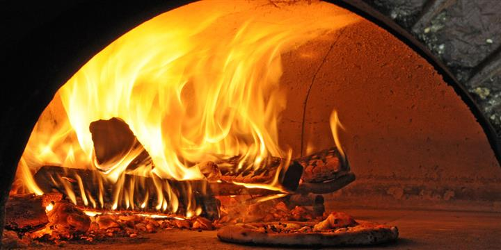 inside the wood fired oven