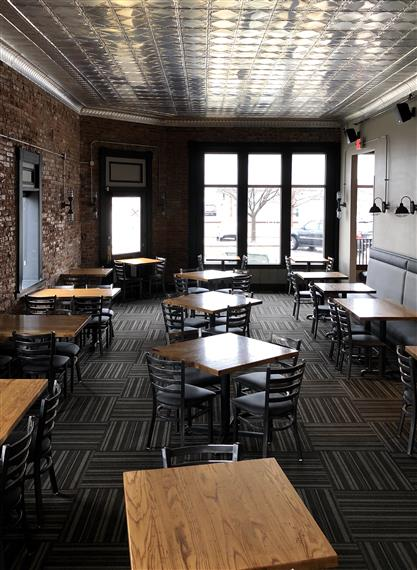 Interior of dining room at Brewery