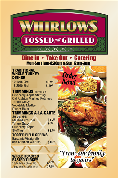 No Hassle Holiday Catering! 209 466-2823