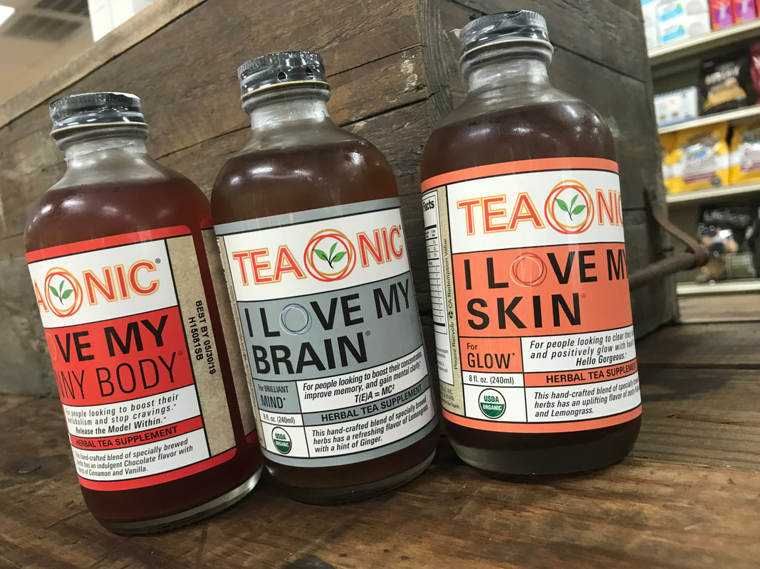 Assorted Teaonic flavors on a wooden table