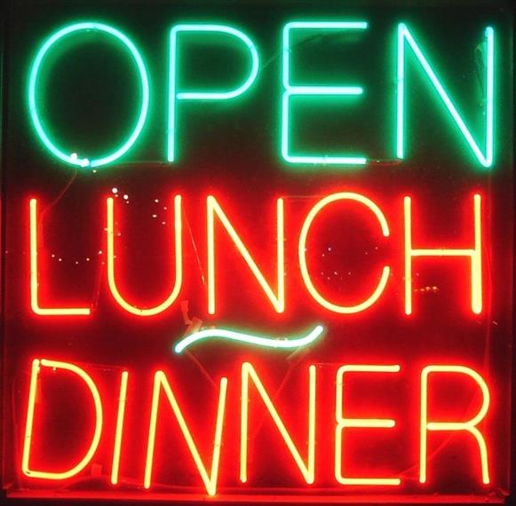 open lunch dinner sign