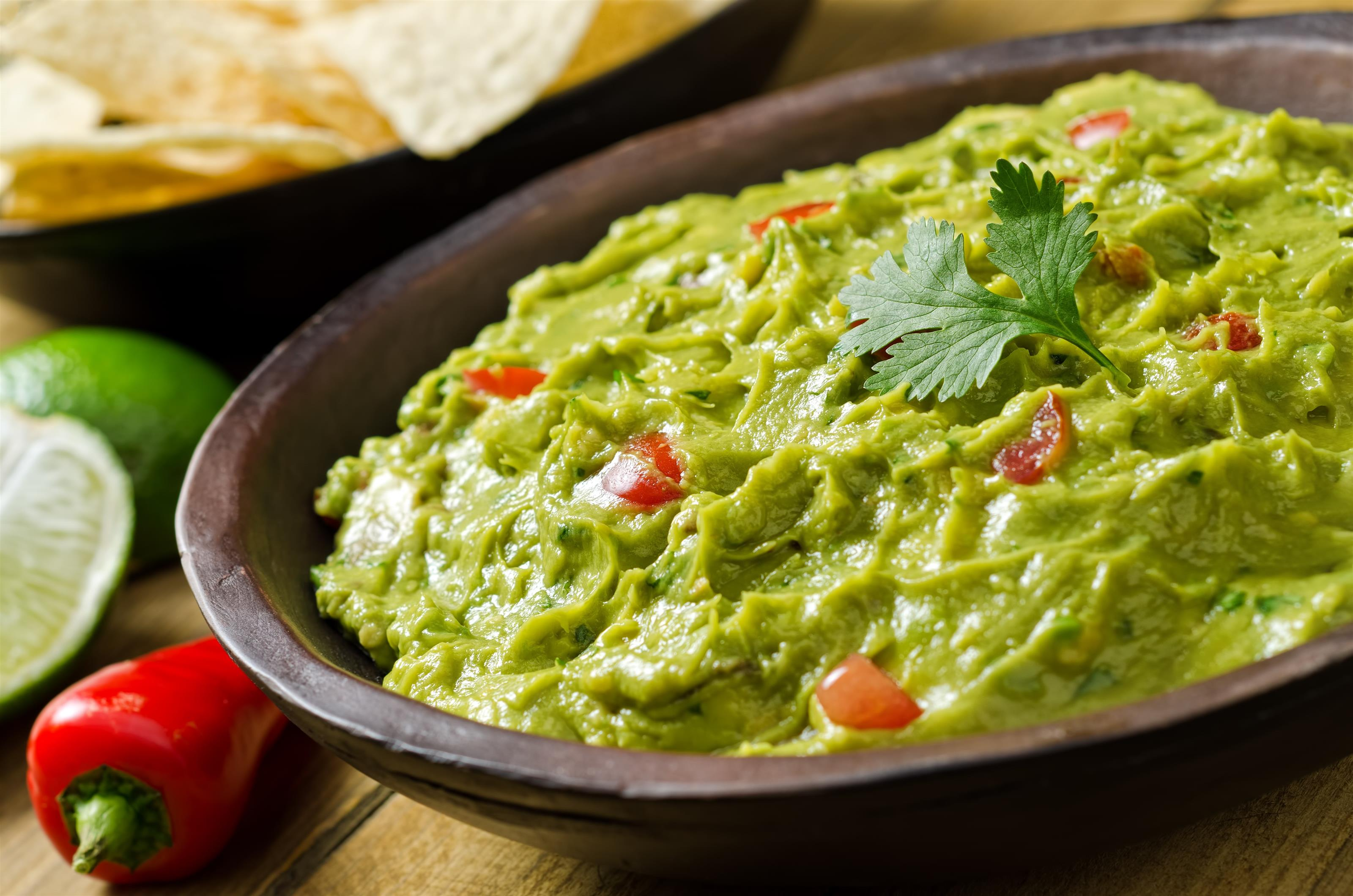 Bowl of fresh guacamole