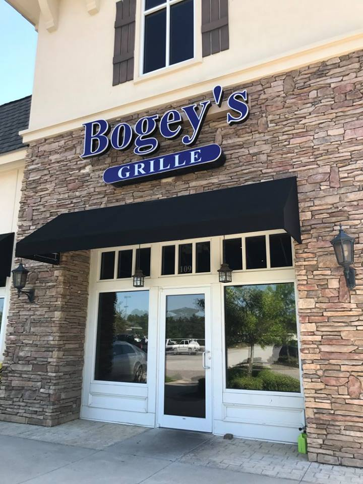 Front entrance of Bogey's Grille.