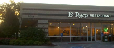 Exterior of Le Peep Restaurant North Park