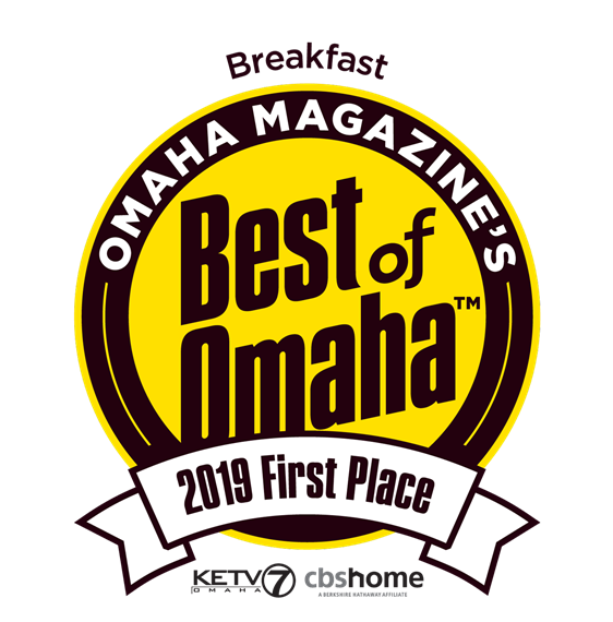 Omaha Magazine's Best of Omaha Breakfast 2019 first place