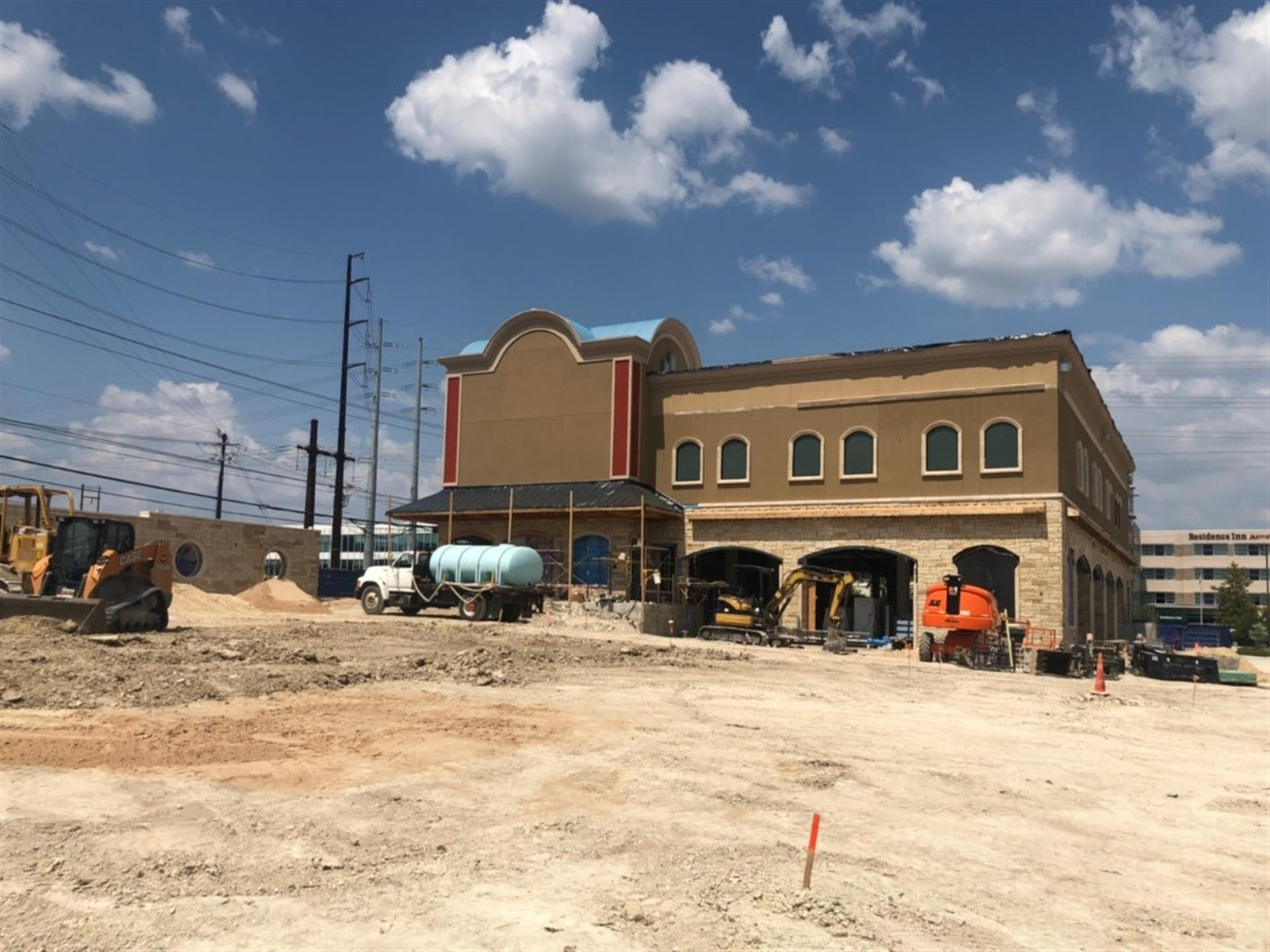 construction progress for the newest location for Dos Salsas Tex-Mex Restaurant