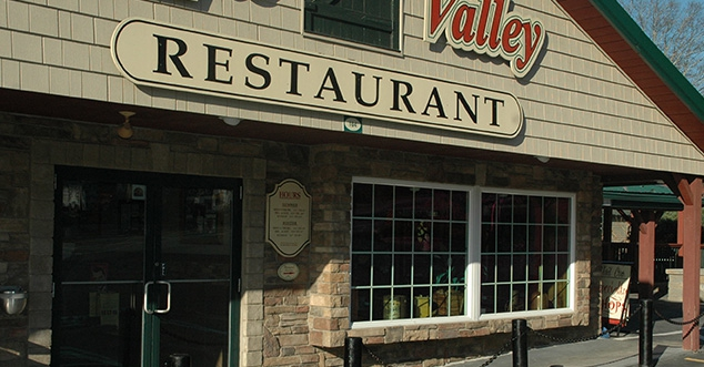 Front entrance at Apple Valley Restaurant.