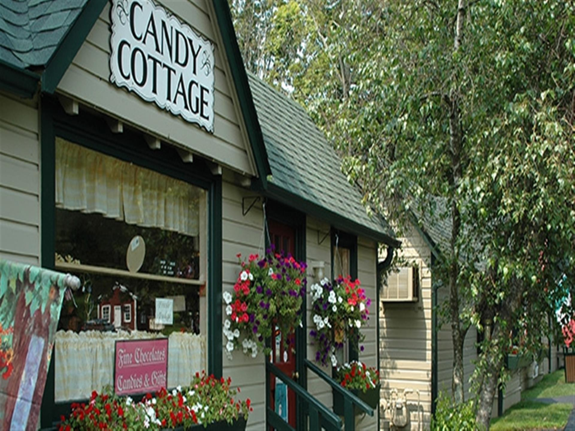 Candy Cottage front entrance.
