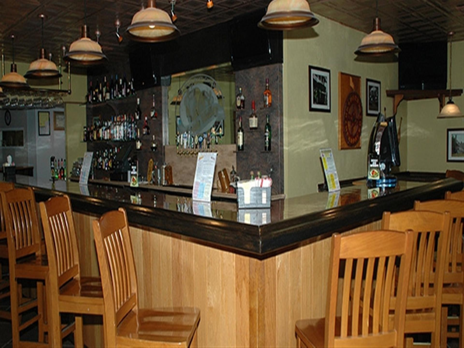 Bar area at Apple Valley Restaurant.
