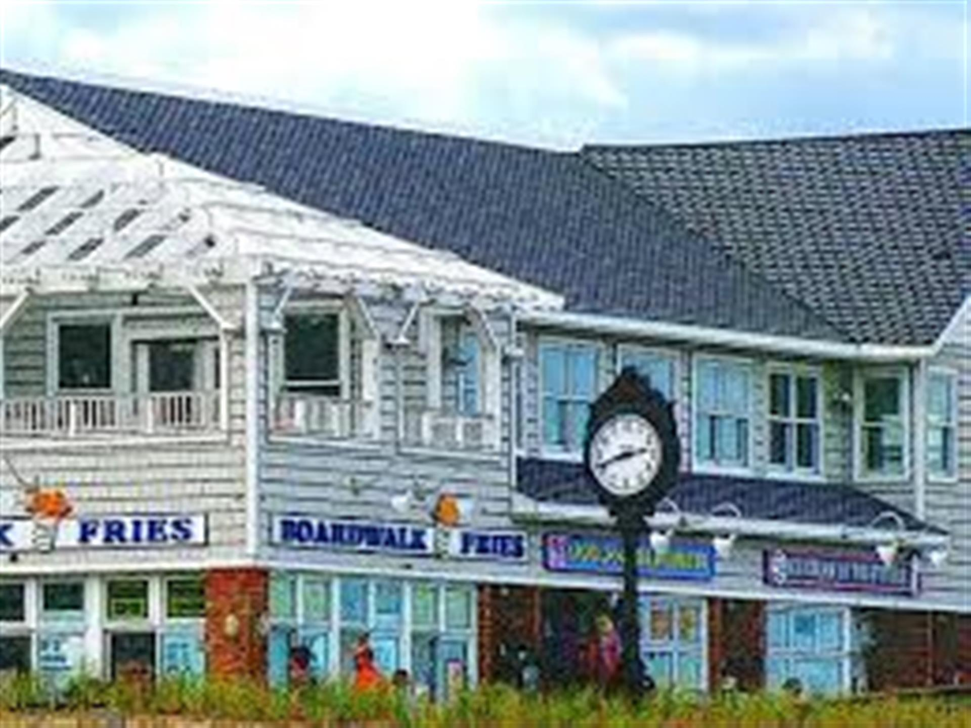 Exterior of Boardwalk Fries Building
