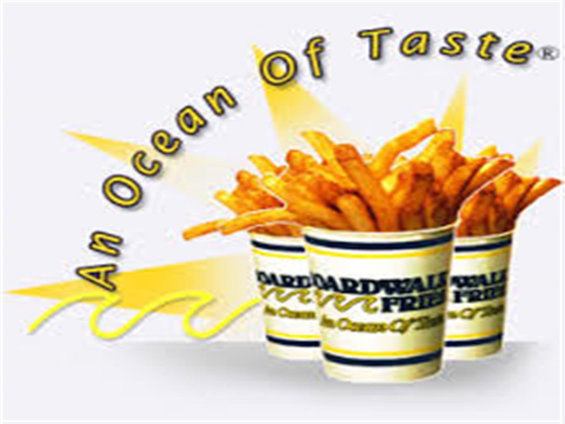 """An Ocean of Tastes"" Cup of fries"