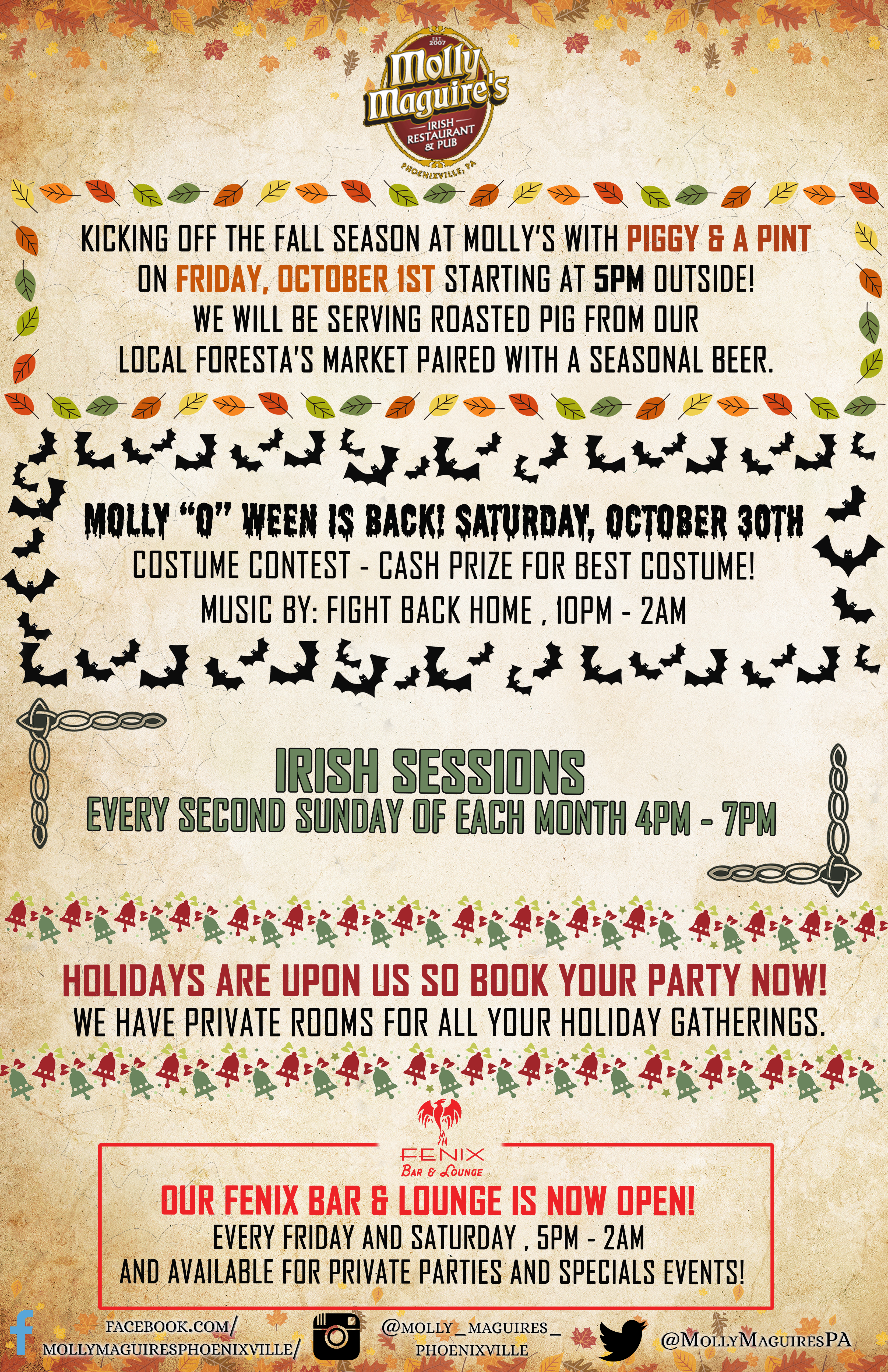 End of September at Molly's