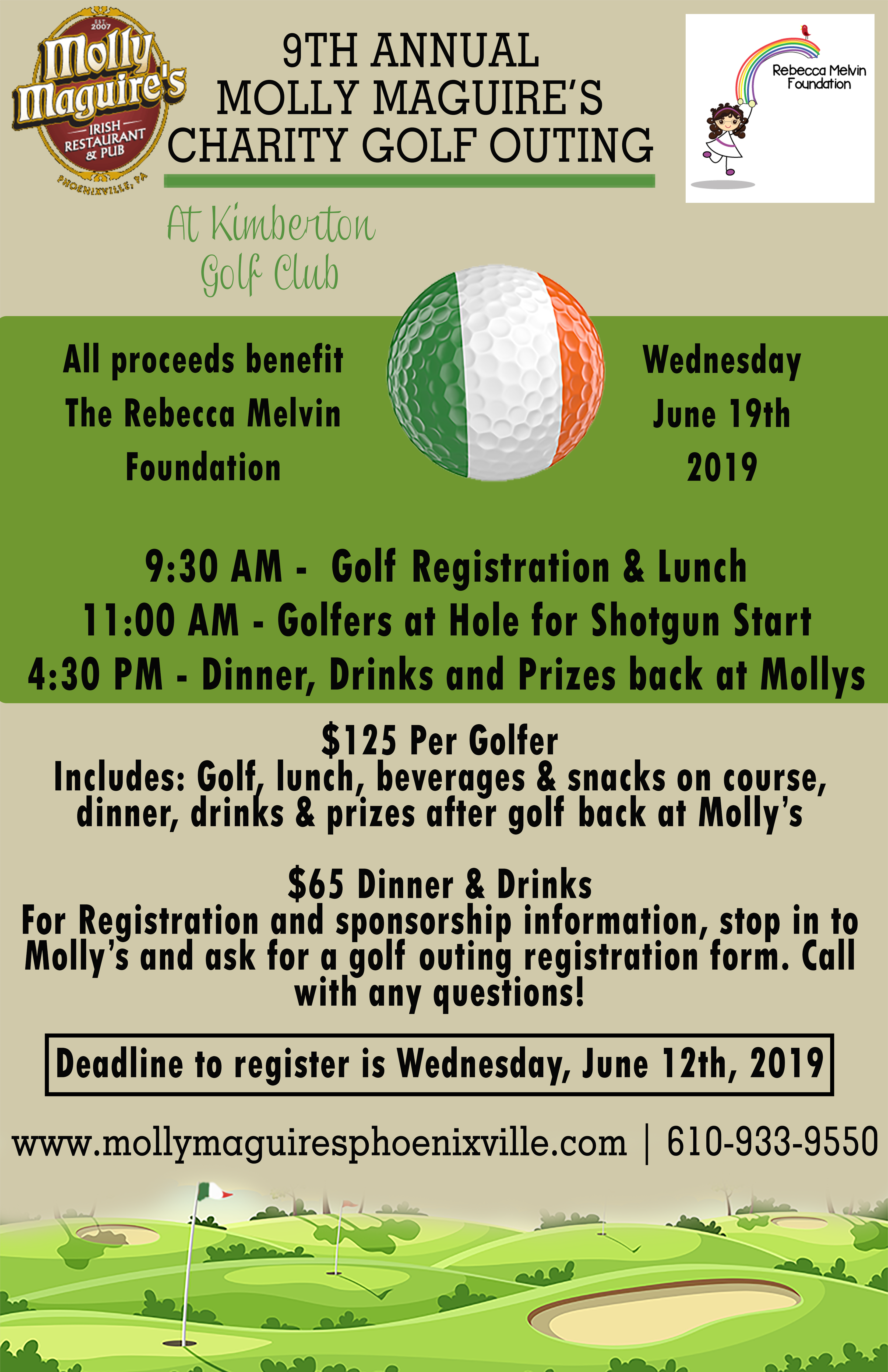 charity golf outing - june 19th 2019