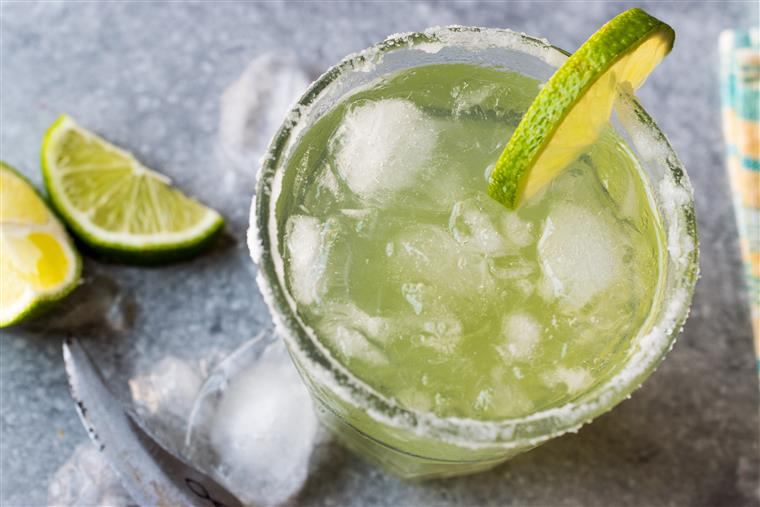 Margarita with a lime