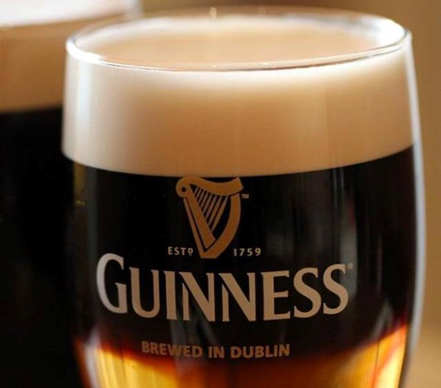 layered Guiness pint