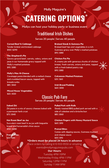 catering options-christmas