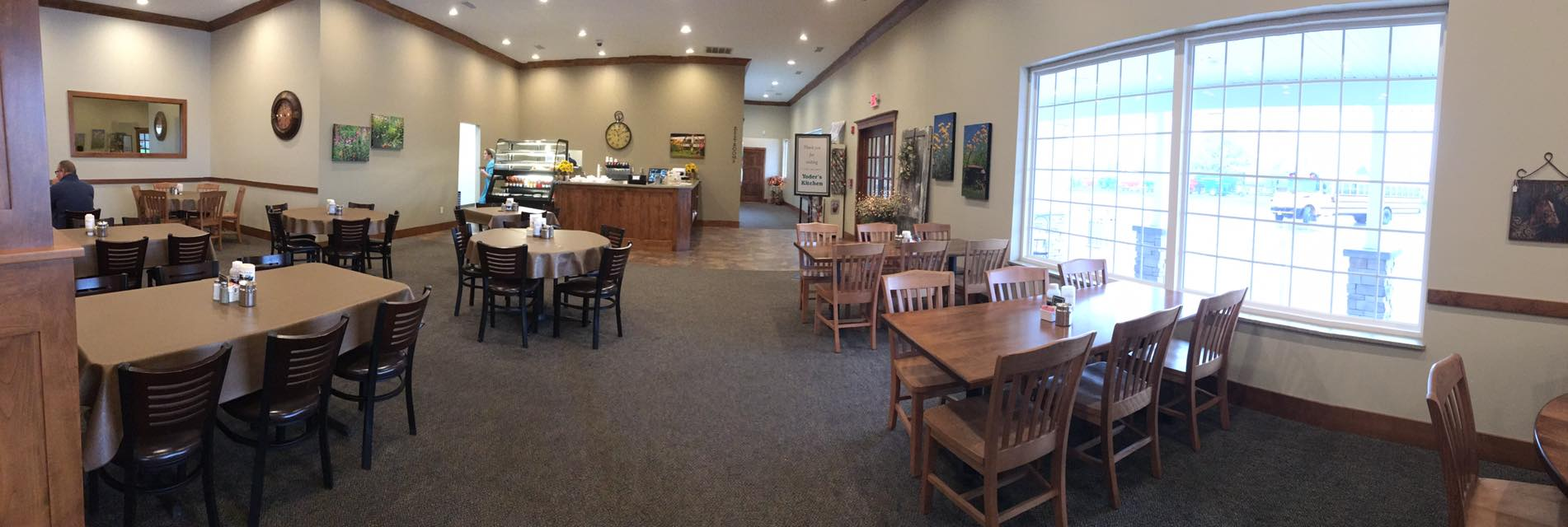 the inside of the dining area of Yoder's Kitchen