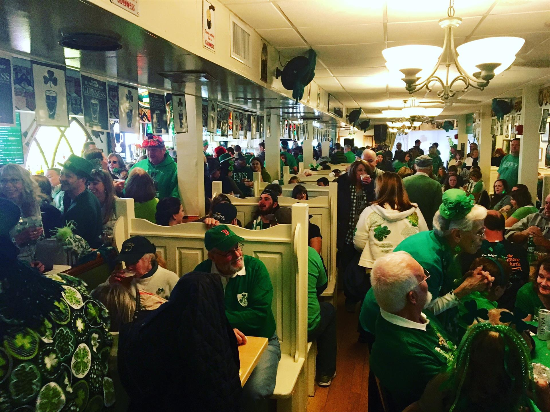 Crowded bar on St. Patrick's Day 2018