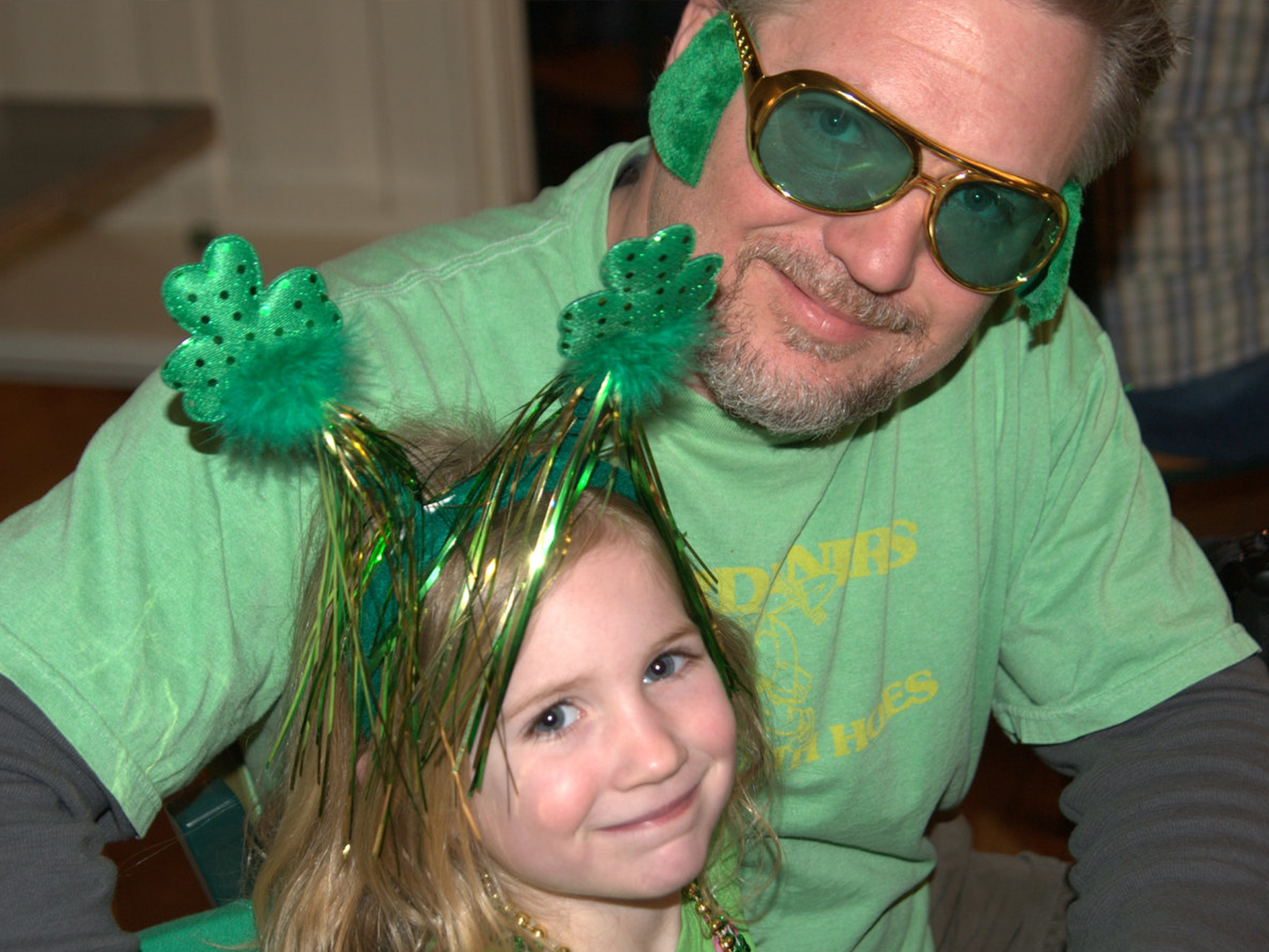 Father and daughter on St. Patricks' Day