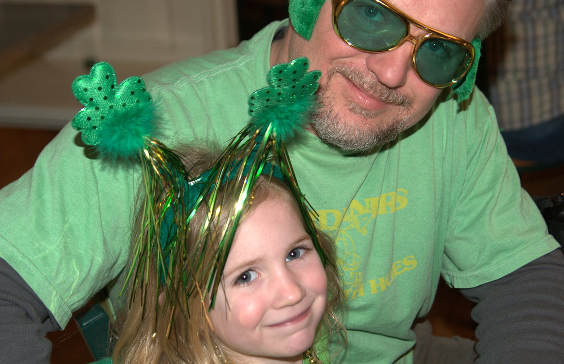 Father and daughter at Shenanigan's on St. Patrick's Day