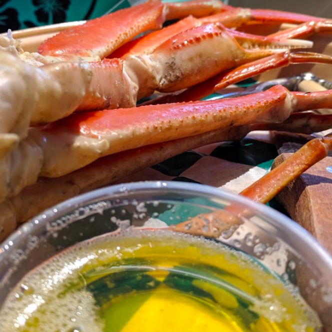 Crab Legs and Beer a Classic Combo