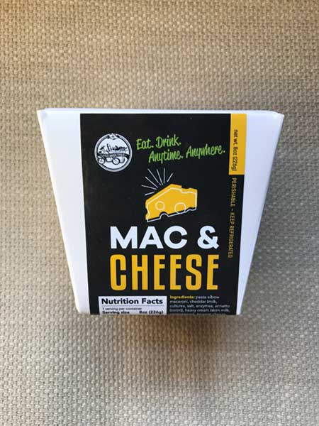Mac and Cheese in carboard box